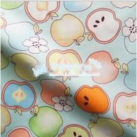 "Cartoon Apple Fairyland Blue Comfortable Soft 100% Cotton Fabric 20"" X 63"" FCX59"