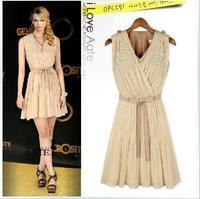 New arrival high elegant women sleeveless vest dress bouffancy dresses summer casual boho dress hot sale