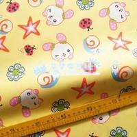 "Cartoon Cute Stars Rabbit Comfortable Soft 100% Cotton Fabric 20"" X 63"" FCX64"