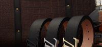 2014 latest design classic letter buckle 100% Genuine leather belt  men and women's,fashion business belt
