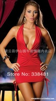 Night Club Dress Sexy Lingerie Low-cut Temptation Nightskirt Ladies Dress Europe Plus size Sexy Women Underwear With G-string w2