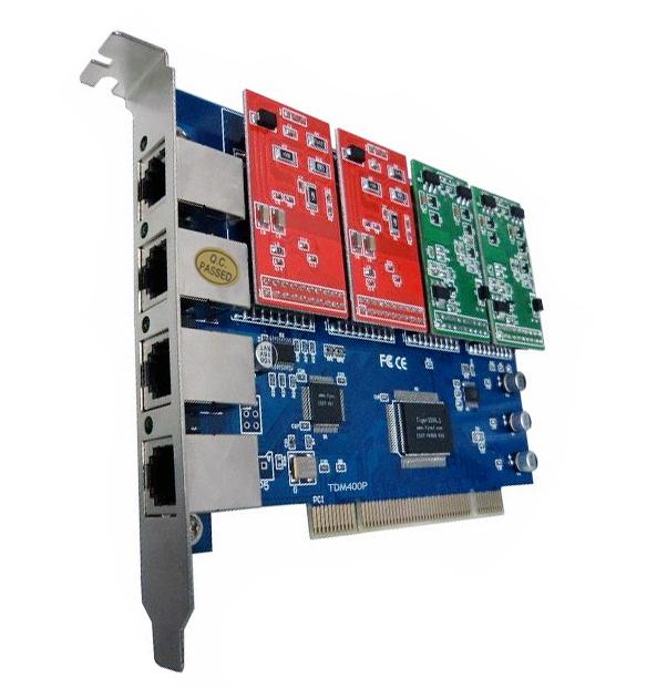TDM400P with 2 FXS +2 FXO ports , supports digium driver dahdi, Asterisk Elastix(China (Mainland))