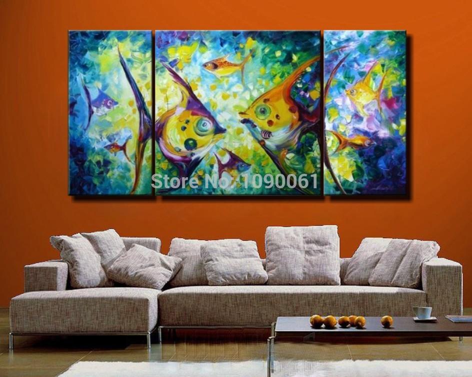 Online kopen Wholesale tropische vissen schilderij uit China tropische