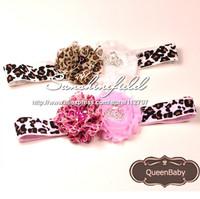 Trial Order Leopard headbands Flowers Baby Girl Hairband, Baby Headband, Newborn Headband, Toddler Headband 20PCS