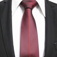 New Trend Mens Unique Popular Red With Burgundy Neckties For Shirt Formal Business Ties For Man Gravata 7CM F7-I-6