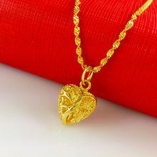 2014 New necklace! Wholesale Free shipping 24k gold necklace heart shaped necklace&pendant ,fashion jewlery, women jewlery, A005