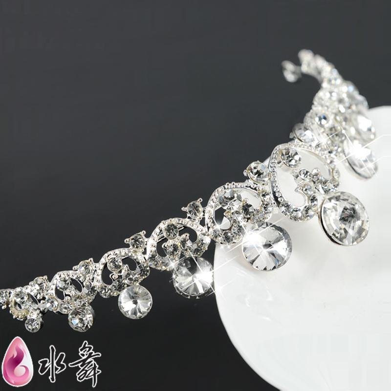 Free Shipping bride rhinestone heart Shape hair accessory marriage wedding accessories Elegant Bridal Tiara Crown