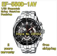 New EF-550D-1AV Men's Chronograph Sport EF-550D EF 550D watch EF-550D-1A 1/20 Stopwatch Swing function Pendulum function