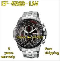EF-558D-1AV EF-558D 558D NEW MEN'S CHRONOGRAPH TACHYMETER MINERAL GLASS WATCH 100M GENTS WRISTWATCH