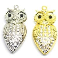 jewelry usb flash drive 1-32GB pen drive owl animal Owl birds  crystal gift hard disk gadget usb memeory