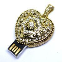 Cute Diamond love heart Gift 1-32GB Jewelry Crystal metal USB flash drive Memory Stick pen drive usb flash drive