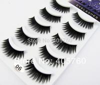 wholesale Curling lint free eye eyelashes set eye lash false eyelash extension kit 10 pairs / lot  free shipping