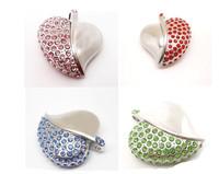 cute diamond crystal heart Gift 8gb 16gb 32gb jewelry Heart crystal USB flash drive memory Stick pen drive usb flash drive