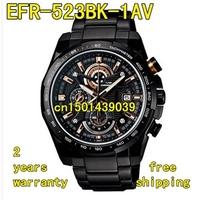 EFR-523BK-1AV New EFR-523BK-1A EFR 523BK Men's Chronograph Sport Watch Gents Black Stainless Steel Wristwatch