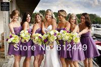 2014 New Arrival Bridesmaid Dresses Fashion Hot Sale Chiffon  Sweetheart Elegant Knee Length Dress