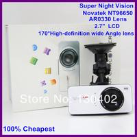 NTK96650 Video Registrator Car Full HD 1080P AT66 Car DVR With G-Sensor+ Motion Detection + 148 Degree Angle Lens