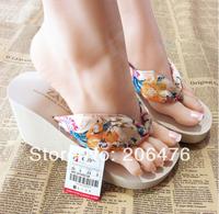 High-heeled sandals bohemia summer fashion wedges platform flip flops shoes slip-resistant Women sandals slippers