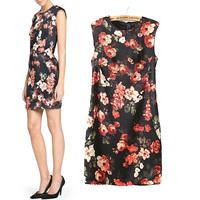 2014 summer fashion flower print slim sleeveless tank dress cheongsam dress one-piece dress