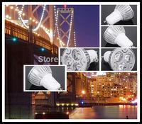 100PCS/Lot GU10 LED Lamp 3W White/Warm White DIMMABLE Light Bulb Spotlight 85-265V L12