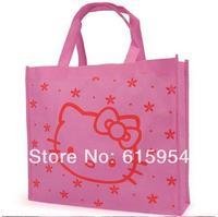 freeship promotion hellokitty cat shopping bag environment tote bag pink