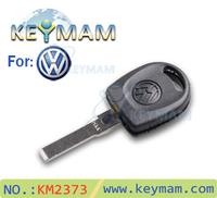 High quality 10pcs/lot VW Transponder Car Key Shell Case Key Blank for Volkswagen Passat  Free shipping