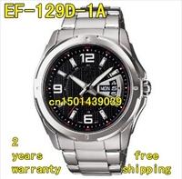 EF-129D-1A New EF-129D Men's Stainless Steel Watch EF-129D-1AV EF129D + original Box