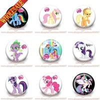 New 2014 1.2 inches<3.0cm  18PCS 9styles Little Horse Badges<Kids tin badge <button pin badge<badge button gift <pary favor