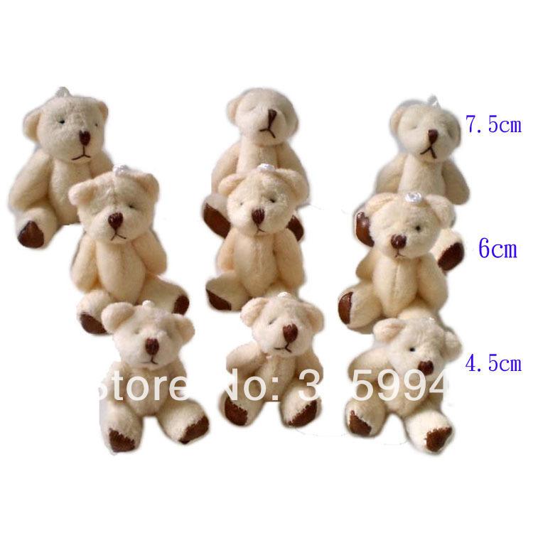 Spedizione gratuita 20 pezzi 4,5 centimetri mini comune orso nudo comune orso cellulare bambola ciondolo cartone animato peluche peluche bambola