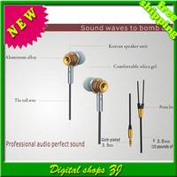 5pcs/lot High quality MJ-700 Metal In-Ear Earphone Headphone Earbuds MP3 MP4 phone Free shipping