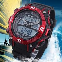 Wholesale EPOZZ Watch Sports Men Waterproof Quartz Analog Digital Date Day Week Alarm Men's Military Watch Electronic  Relogio