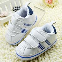 White Unisex Baby Shoes Toddler Prewalker Anti-Slip Shoe Sport Soft  Baby Shoe Free &Drop shipping