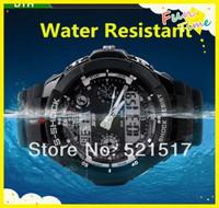 Fashion Waterproof Luminous LED Electronic dual display multifunction sports watch Free shipping