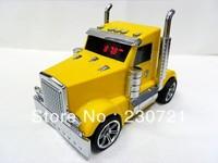 DHL Free Shipping Mini Truck music speaker car shape portable mp3 USB Speaker sound box With 3D Stereo sound 10PCS