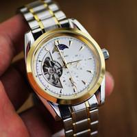 Fully-automatic mechanical mens watch 5 needle precision waterproof cutout mechanical male watch