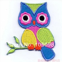 Free Shipping~10 pcs/lot Wholesale Embroidered Owl -1  Iron On Sew On patches Applique Badges