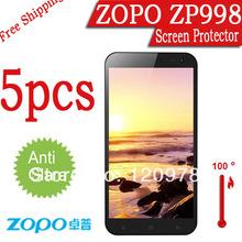 fashion ZOPO 998 ZP998 phone film.Matte anti-glare 5pcs 3G Phone Zopo 998 Screen Protector.LCD protective film cover for zopo