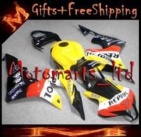REPSOL black white red+ Yellow CBR-600RR 2007 2008 Fairings INJECTION MOLD Body Kit Fairing for Honda CBR600RR 2007 2008