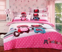 2014 new Reactive Print 4Pcs bedding sets luxury include Duvet Cover Bed sheet Pillowcase,King Queen Full size,Free shipping