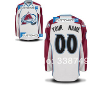 Custom Your Name Number Ice Jerseys Cheap Colorado Avalanche Customized Personalized Hockey Jersey,Embroidery Logos.Size 48-56