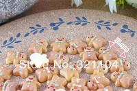 Free ship!!!     Mini tie gingerbread man  11mm simulation cream phone beauty DIY accessory  wholesale