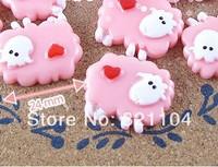 Free ship!!!    sheep 24mm simulation cream phone beauty DIY accessory  wholesale