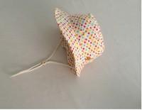 2014 New Children Caps Colorful Heart-shaped Spring Summer Cap Sunbonnet  Bucket Hats Baby  Girls Beach Cap 48cm,50cm,52cm,54cm