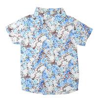 Children Summer Tops Baby Boys Flower Short Sleeves Shirts Beach Wear,Free Shipping K6561