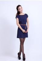 2014 one-piece dress thin vintage sweet dress sleeveless summer dress no belt 0116