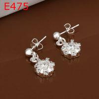 925 silver earrings fashion jewelry earrings beautiful earrings high quality fashion earrings E475