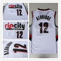 Rip City Portland #12 Lamarcus Aldridge New Fabric REV 30 White Basketball Jerseys, Cheap New Material Sport Jersey