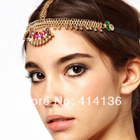 Ceative Indian Forehead Bohemia Beads Hair Chain