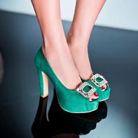 Big Size women pumps 2014 New summer sexy rhinestone women sandals platform single shoes,32-43