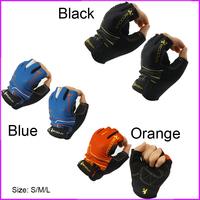 1 PCS New Gel Mountail Bike Bicycle Half Finger Racing Riding Cycling Gloves for Women (Black, Blue, Orange)