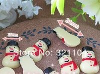 Free ship!!!    Frosty The Snowman    24*15mm  cream phone beauty DIY accessory  wholesale